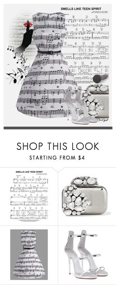 """""""Music Note Dresses&Top"""" by manuela-cdl ❤ liked on Polyvore featuring Jimmy Choo, ESPRIT, Giuseppe Zanotti and vintage"""