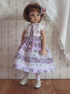 "Lavender Rose 5 PC Set Handmade for 13"" Effner Little Darling BJD by JEC 