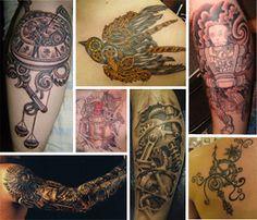Steampunk by DreamSteam: Steampunk Tattoo Designs
