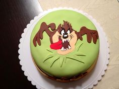 Taz Birthday Cake Made by Susana Polo Beautiful Cakes, Amazing Cakes, Cupcake Cookies, Cupcakes, Looney Tunes Space Jam, Creative Birthday Cakes, Dog Bakery, Tasmanian Devil, Character Cakes