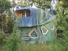 Preston, Brighton, UK~ Fairy tale house. I don't know if this is a viable living space, but it sure is sweet, and has the appearances of being a cob house.  Cob is an ancient building technique that uses clay, sand, and straw mixed with water to create an adobe-like material.