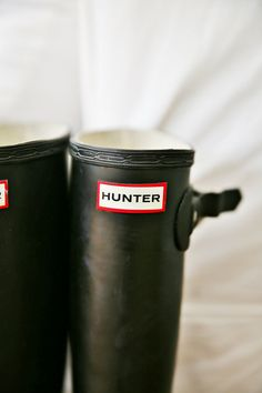 Black Hunter Wellies. These are the best as they go with everything.