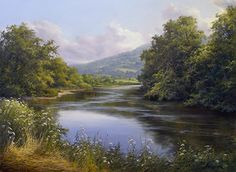 Where the Wildflowers Skirt the Water's Edge by Andrew Orr Oil ~ 18 x 24
