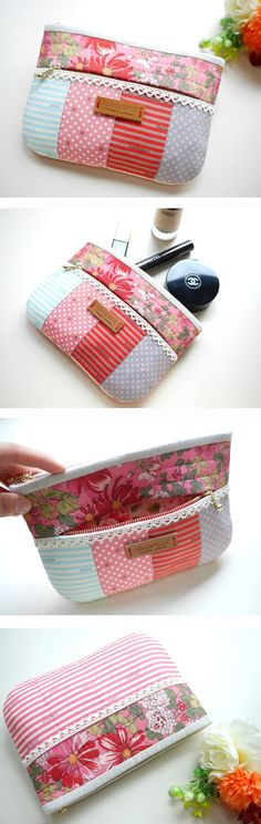 Cute idea for mini pouch. Love colors-