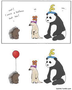 Simpsons Animator Liz Climo Creates Incredibly Cute Animal Comics on Tumblr | Bored Panda
