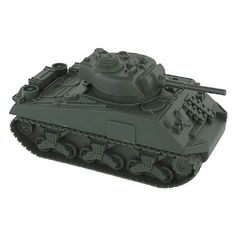 BMC WWII Green Sherman Military 1:32 Scale Toy Tank for 54mm Army Men Soldier Figures $6.96