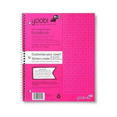 Yoobi Poly Cover College Rule  Subject Notebook - Pink ($2.29) ❤ liked on Polyvore featuring home, home decor et stationery