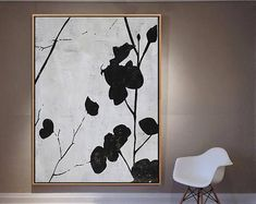 Textured Painting Large Wall Art Canvas Painting Abstract Flowers, Acrylic Painting on Canvas, Modern Art- Ethan Hill Art Salon Art Deco, Grand Art Mural, Minimalist Painting, Abstract Canvas Art, Geometric Painting, Abstract Paintings, Contemporary Abstract Art, Mid Century Art, Original Paintings