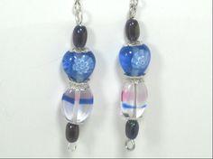 Glass Bead Dangle Earrings Romantic Feminine by cynhumphrey, $6.00