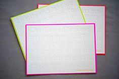 Jess + Charlies Retro Neon Wedding Invitations via Oh So Beautiful Paper