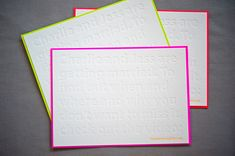 Jess + Charlies Retro Neon Wedding Invitations via Oh So Beautiful Paper