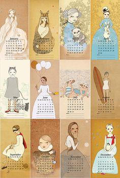 2012 Calendar (Holiday Sale) - via etsy.com