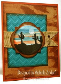 In the West - beautiful scenery using the photopolymer Greetings From set from Stampin' Up!