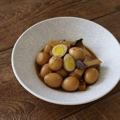 새송이버섯 메추리알장조림 (Quail Eggs)