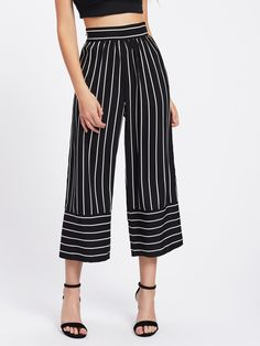 Shop Striped Wide Leg Pants online. SheIn offers Striped Wide Leg Pants & more to fit your fashionable needs.