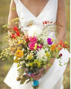 Wildflower bouquet...but where are the sunflowers?