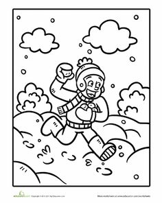 Worksheets: Color the Snowball Fighter