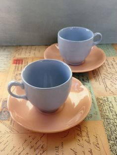 A pair of Vintage mismatched Johnsons by KittysVintageVault