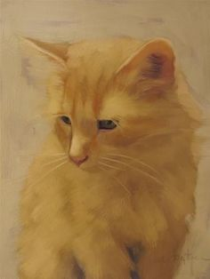 "Daily Paintworks - ""Orange Cat painting by Diane H..."" by Diane Hoeptner"