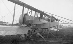 FRENCH AIRCRAFT FIRST WORLD WAR (Q 68075)   Caudron G.IV two-seat bomber/reconnaissance biplane of No. 3 Wing RNAS at Luxeuil in Belgium.