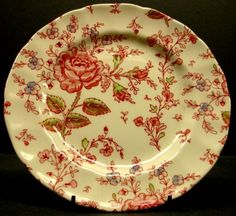 Johnson Brothers England Rose Chintz floral Porcelain salad plate china