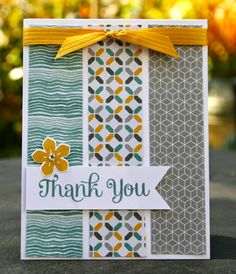Simple cards - Krystal's Cards: Stampin' Up! Four You Three Ways Handmade Thank You Cards, Handmade Birthday Cards, Greeting Cards Handmade, Simple Handmade Cards, Happy Birthday Cards, Birthday Gifts, Homemade Greeting Cards, Homemade Cards, Cool Cards