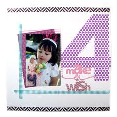 Make a Wish Featuring new Washi Sheets from We R Memory Keepers - Scrapbook.com