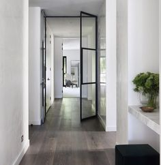 Black steel doors | South Yarra Project | via dot and pop