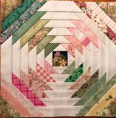 Pineapple Quilt Pattern, Pineapple Quilt Block, Patchwork Patterns, Quilt Patterns Free, Antique Quilts, Vintage Quilts, Braid Quilt, Log Cabin Quilts, Contemporary Quilts