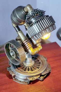Steampunk Lamp - Table Lamp - Edison Light - Vintage Light - Pipe Lamp - Bedside Lamp - Rustic Lighting