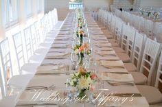 www.weddingsattiffanys.com.au www.tiffanysflowers.com.au Weddings at Tiffany's Tiffany's Flowers  Long Tables, lined with fresh flowers <3  #Maleny #flowers #weddings #tiffanys