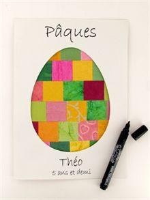 Collage oeuf de Pâques