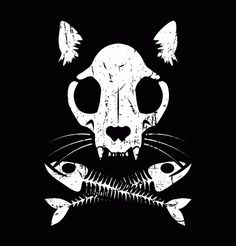 cat skull and crossbones - Google Search