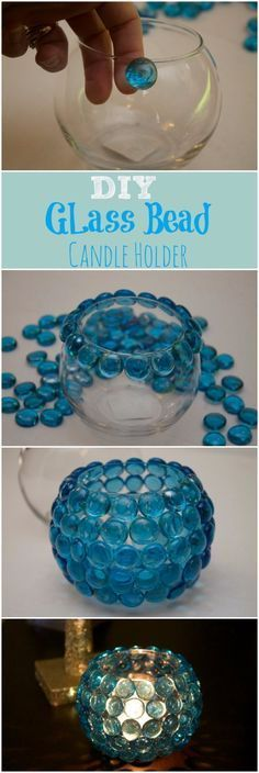 Easy Crafts To Make and Sell - DIY Glass Bead Vase - Cool Homemade Craft Projects You Can Sell On Etsy, at Craft Fairs, Online and in Stores. Quick and Cheap DIY Ideas that Adults and Even Teens Can Make