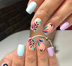 Classy Nails, Fancy Nails, Stylish Nails, Trendy Nails, Diy Nails, Cute Nails, Square Acrylic Nails, Summer Acrylic Nails, Cute Acrylic Nails