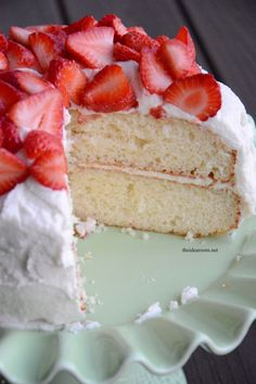 The Best White Cake Recipe |theidearoom.net