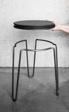Blocher partners Bender on Behance - Moden Achrichten Tiny House Furniture, Furniture Near Me, Iron Furniture, Steel Furniture, Unique Furniture, Furniture Design, Metal Table Legs, Metal Chairs, Bed Designs With Storage