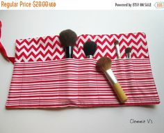 50% off Sale Cosmetic Brush Roll,Makeup Brush Roll,Artis Brush Roll, Pencil Case,Makeup Tools and Brushes Case