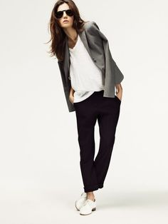 business casual i love the color gray with black and white