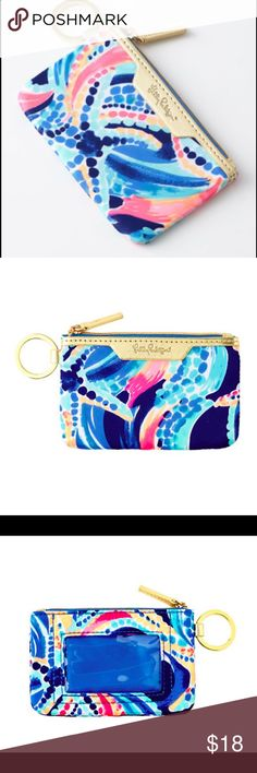 Lily Pulitzer Ocean Jewels Key Card/ ID case Neoprene fabric. New. Great for keeping organized without bulk Lilly Pulitzer Accessories Key & Card Holders