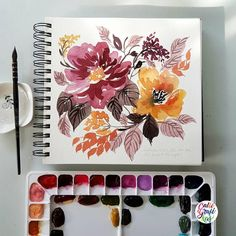 Best Watercolor Art Ideas – Modern Home Watercolor Cards, Abstract Watercolor, Watercolor Flowers, Watercolor Paintings, Watercolors, Illustration Blume, Botanical Art, Painting Inspiration, Diy Art