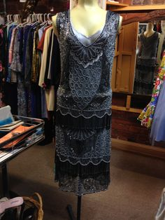 1920s Style Flapper Dress by JulieVintageBoutique on Etsy, $430.00