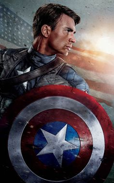 Chris evans as captain america (the avengers, captain americ Captain America Poster, Captain America Civil War, Captain America Photos, Captain America Wallpaper, Marvel Wallpaper, Marvel Avengers, Marvel Comics, Avengers Poster, Avengers Movies