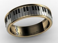 This is the cutest ring I have ever seen! But thankfully, ya know, its only $306.75..  / Piano Ring.  via Etsy.