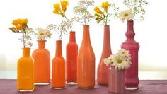 garrafas pintadas para vaso