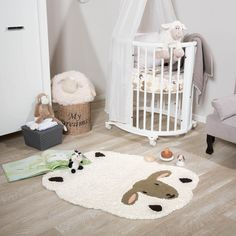The Kids Line Rug features a Sheep design with a fluffy coat and is very popular in children's bedrooms, play areas, schools and nurseries
