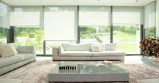 Large glazed areas such as bifold doors can be a challenge when considering privacy. We can offer several solutions for window treatments for bifold doors, including curtains, blinds, voiles and more. Curtains For Bifold Doors, Patio Door Blinds, French Door Curtains, House Blinds, Blinds For Windows, Curtains With Blinds, French Doors, Blinds For Sliding Doors, Roman Blinds