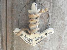 Anchor Salt Dough Ornament / Party Favor / by cookiedoughcreations, $5.95