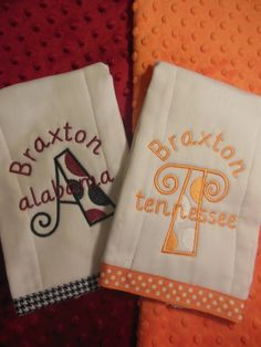House Divided Burp Set. $18.00, via Etsy.