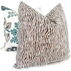 love!  Bronze and White Animal Print Pillow Cover 18x18 by PopOColor, $45.00
